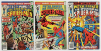 """Lot of (3) 1976 """"Peter Parker, The Spectacular Spider-Man"""" Issue #1 - #3 Marvel Comic Books at PristineAuction.com"""