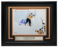 Carter Hart Signed Flyers 11x14 Custom Framed Photo (PSA COA) at PristineAuction.com