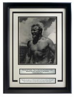 """Warrior in Trunks"" World War II 15x20 Custom Framed Photo Display at PristineAuction.com"