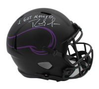 "Randy Moss Signed Vikings Full-Size Eclipse Alternate Speed Helmet Inscribed ""U Got Mossed"" (Beckett COA) at PristineAuction.com"