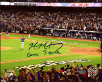 "Mike Montgomery Signed Cubs 8x10 Photo Inscribed ""Game 7 Save"" (Schwartz COA) at PristineAuction.com"