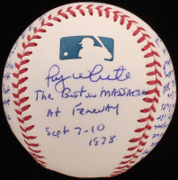 "Roy White - Hand Written & Signed Story Baseball - ""The Boston Massacre At Fenway"" (Stallard COA & JSA COA) at PristineAuction.com"