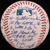 "Denny McLain - Hand Written & Signed Story Baseball - ""Career Highlights & Mickey Mantle Gift Home Run"" (Stallard COA & JSA COA) at PristineAuction.com"