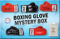 Schwartz Sports Boxing Superstar Signed Mystery Boxing Glove - Series 8 (Limited to 100) **MUHAMMAD ALI Autograph – Grand Prize** at PristineAuction.com