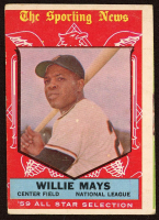 Willie Mays 1959 Topps #563 All Star at PristineAuction.com