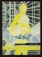 Mark Hamill as Luke Skywalker 2015 Star Wars High Tek Autographs Printing Proofs Yellow #1 at PristineAuction.com