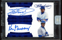 Ken Griffey Jr. / Ken Griffey Sr. 2017 Panini Flawless Dual Player Signatures Sapphire #16 (Panini Encapsulated) at PristineAuction.com