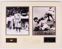 Ty Cobb 16x20 Custom Matted Cut Display with (1) Hand-Written Word from Letter (PSA LOA Copy) at PristineAuction.com