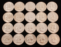 Lot of (20) 1963 Franklin Half Dollars at PristineAuction.com