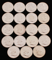 Lot of (19) Franklin Half Dollars with (4) 1960, (5) 1961, (5) 1962, & (5) 1963 at PristineAuction.com