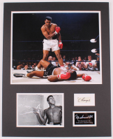 Muhammad Ali 16x20 Custom Matted Cut Display with (1) Hand-Written Word from Letter (JSA LOA Copy) at PristineAuction.com