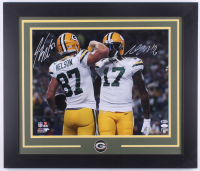 Jordy Nelson & Davante Adams Signed Packers 23x28 Custom Framed Photo Display (JSA COA & Beckett COA) at PristineAuction.com