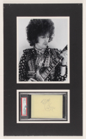 Eric Clapton Signed 12x20 Custom Matted Cut DIsplay (PSA Encapsulated) at PristineAuction.com