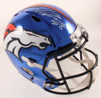 Von Miller Signed Broncos Full-Size Chrome Speed Helmet (JSA COA) at PristineAuction.com