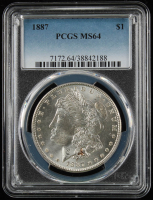 1887 $1 Morgan Silver Dollar (PCGS MS64) at PristineAuction.com