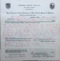 Elvis Presley Signed 30x34 Custom Framed 1957 Contract to Purchase Graceland (PSA LOA) at PristineAuction.com