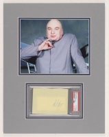 "Mike Myers Signed ""Austin Powers"" 14x18 Custom Matted Cut DIsplay (PSA Encapsulated) at PristineAuction.com"