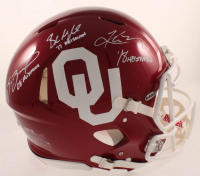"Kyler Murray, Sam Bradford, & Baker Mayfield Signed Oklahoma Sooners Full-Size Authentic On-Field Speed Helmet Inscribed ""'18 Heisman"", ""'17 Heisman"", & ""08' Heisman"" (Beckett COA) at PristineAuction.com"