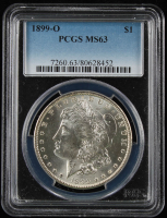 1899-O $1 Morgan Silver Dollar (PCGS MS63) at PristineAuction.com