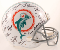 """1972 Dolphins Full-Size Authentic On-Field Helmet Team-Signed by (26) with Bob Griese, Larry Little, Ed Jenkins, Howard Kindig Inscribed """"SBVII MVP"""" (JSA COA) at PristineAuction.com"""