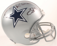 "Troy Aikman, Emmitt Smith & Michael ""Playmaker"" Irvin Signed Cowboys Full-Size Helmet (Beckett COA, Prova COA, & JSA COA) at PristineAuction.com"