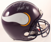 """Randy Moss Signed Vikings Full-Size Authentic On-Field Helmet Inscribed """"HOF 18"""" (JSA COA) at PristineAuction.com"""