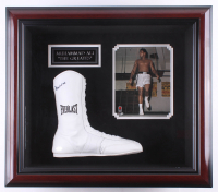 Muhammad Ali Signed 22x26x5.25 Custom Framed Everlast Boxing Shoe Shadowbox Display (PSA Hologram) at PristineAuction.com