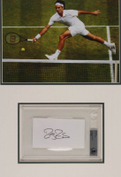 Roger Federer Signed 18x24 Custom Matted Cut Display (PSA Encapsulated) at PristineAuction.com