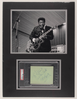 """B.B. King Signed 18x24 Custom Matted Cut Display Inscribed """"All The Best"""" (PSA Encapsulated) at PristineAuction.com"""