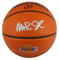 Magic Johnson Signed Lakers Logo NBA Game Ball Series Basketball (Beckett COA) at PristineAuction.com