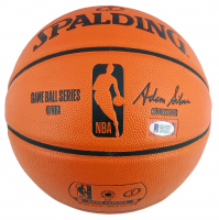 Magic Johnson Signed Lakers Logo NBA Game Ball Series Basketball (Beckett COA) at PristineAuction.com