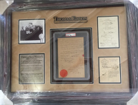 Thomas Edison Signed 32x34 Custom Framed U.S. Patent Application For Light Bulb Improvement (PSA LOA) at PristineAuction.com