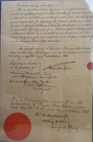 Thomas Edison Signed 32x34 Custom Framed U.S. Patent Application For Light Bulb Improvement (PSA LOA) at PristineAuction.com