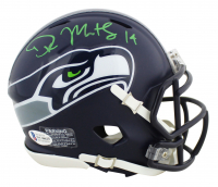 DK Metcalf Signed Seahawks Speed Mini Helmet (Beckett COA) at PristineAuction.com