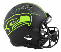 "DK Metcalf Signed Seahawks Eclipse Alternate Full-Size Speed Helmet Inscribed ""Wolverine"" (Beckett COA) at PristineAuction.com"