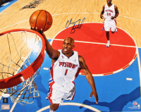 Chauncey Billups Signed Pistons 16x20 Photo (JSA COA) at PristineAuction.com