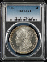1883 $1 Morgan Silver Dollar (PCGS MS64) at PristineAuction.com