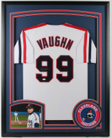 "Charlie Sheen Signed ""Major League"" Indians 34x42 Custom Framed Jersey (JSA Hologram) at PristineAuction.com"
