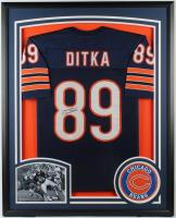 Mike Ditka Signed 34x42 Custom Framed Jersey Display (JSA Hologram) at PristineAuction.com