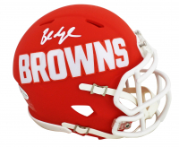 Baker Mayfield Signed Browns AMP Alternate Speed Mini Helmet (Beckett COA) at PristineAuction.com