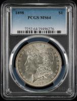 1898 $1 Morgan Silver Dollar (PCGS MS64) at PristineAuction.com