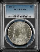 1899-O $1 Morgan Silver Dollar (PCGS MS64) at PristineAuction.com
