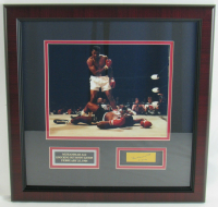 "Muhammad Ali Signed 16x16 Custom Framed Cut Display Inscribed ""11-18-89"" (JSA LOA) at PristineAuction.com"