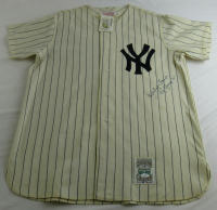 """Whitey Ford Signed Yankees Jersey Inscribed """"Cy Young '61"""" (JSA COA) at PristineAuction.com"""