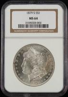 1879-S $1 Morgan Silver Dollar (NGC MS64) at PristineAuction.com
