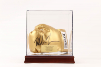 Mike Tyson Signed Everlast Boxing Glove with High Quality Display Case including New Cherry Wood Base (PSA COA) at PristineAuction.com