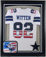 Jason Witten Signed 34x42 Custom Framed Jersey Display (JSA COA) at PristineAuction.com