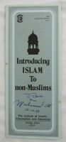 """Muhammad Ali Signed Pamphlet Inscribed """"From"""" (JSA LOA) at PristineAuction.com"""