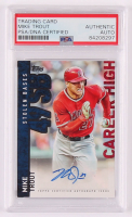 Mike Trout 2015 Topps Career High Autographs #CHMT (PSA Authentic) at PristineAuction.com