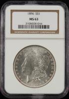 1896 $1 Morgan Silver Dollar (NGC MS63) at PristineAuction.com